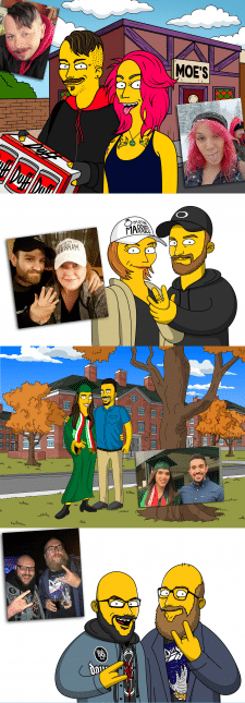 Портрет в стиле Simpson