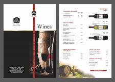 Wines menu