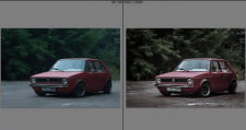 Цветокорекция автомобильного фото