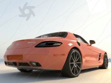 Mercedes-Benz AMG моделлинг и настройка материалов