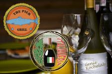 Лого рыбного ресторана и магазина итальянской еды