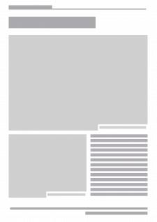 Модульная сетка страницы журнала
