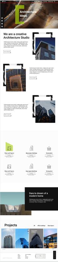 Дизайн для строительной компании