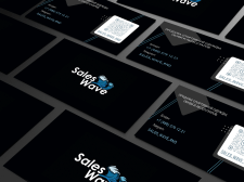 """Business card """"Sales Wave"""""""