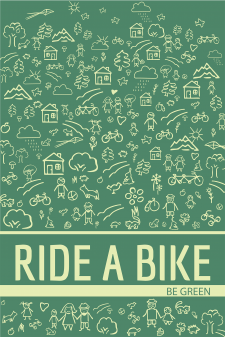 Poster Be-Green-RIDE-A-BIKE