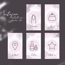 Дизайн highlights для instagram'а салона маникюра