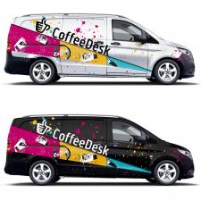 Дизайн автомобиля кофейной компании.