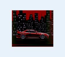 Красный Nissan