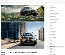 Наполнение моделей авто для BMW Киев