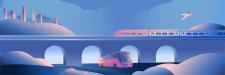 Иллюстрация для сайта по планированию путешествий