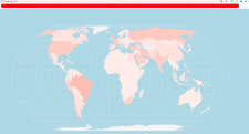 Карта заболевших коронавирусом на React + chart.JS