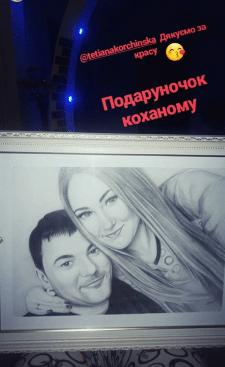 Портрет карандашами с оформлением красивой рамки)