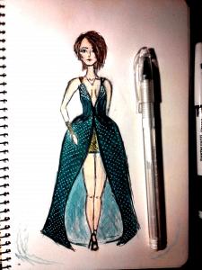 Модель в платье ,одежда
