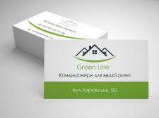 Дизайн визитки кондиционеров