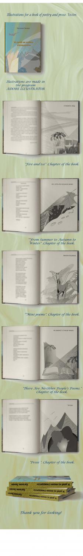 Иллюстрации и макет обложки для книги