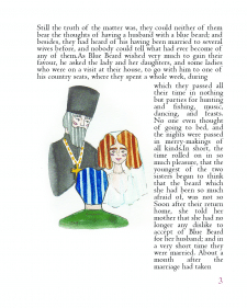 Illustration to the book Bluebeard