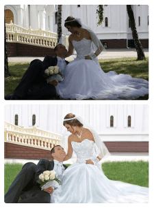 Обработка фото под рисунок на холсте, рисунок в фотошопе