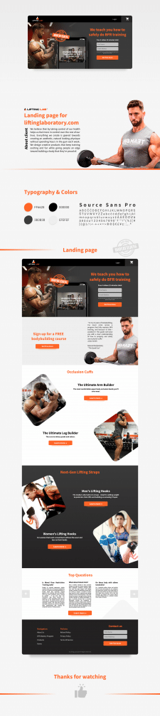 Landing page for Lifting Laboratory
