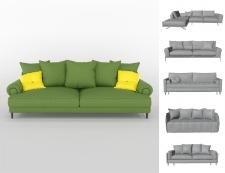 Модели диванов и визуализация одного из них