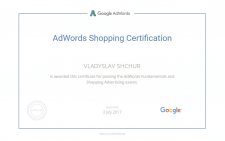 Сертификат Google Adwords - Shopping