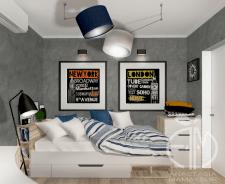 Дизайн детской в двухкомнатной квартире в Киеве