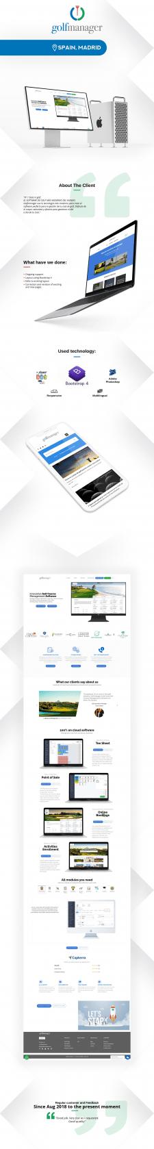 Ведение сайта Мадридской компании разработки ПО №1
