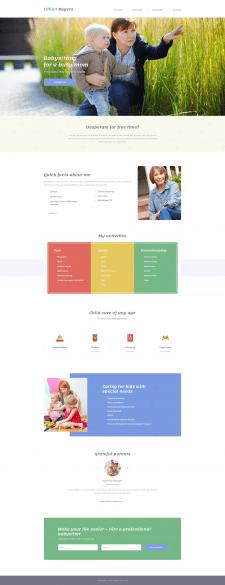 Child Care Worker - шаблон для сайта няни (2016)