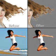 Удаление фона/выделение волос