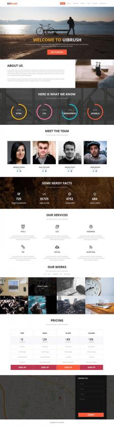Landing Page для зарубежной компании