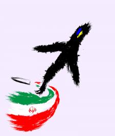 Украинский самолет над Ираном
