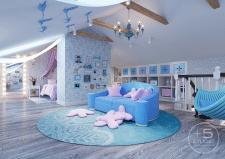 Дизайн проект дома с мансардой 250 кв.м. Алмата
