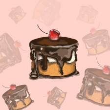 Иллюстрация Пирожное