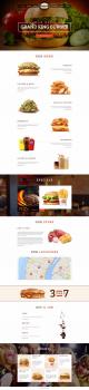 Дизайн лэнднга доставки еды