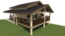 Визуализация проекта бани (вариант №2)