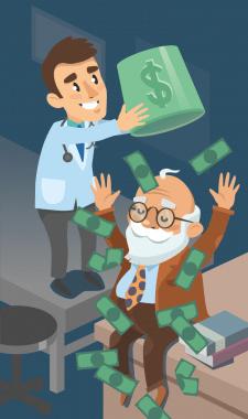 Пенсионер в деньгах