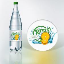 Этикетка для газированной воды со вкусом апельсина