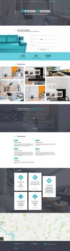 Дизайн сайта визитки Design Vision