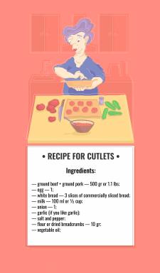 Иллюстрация кулинарного рецепта