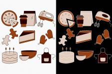 Иконки на тему еда