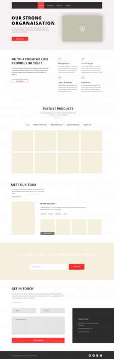 Дизайн и верстка сайта без доработки в Wordpress