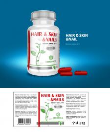 дизайн этикетки HAIR & SKIN &NAILS