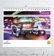 """Календарь для компании """"Renault"""""""