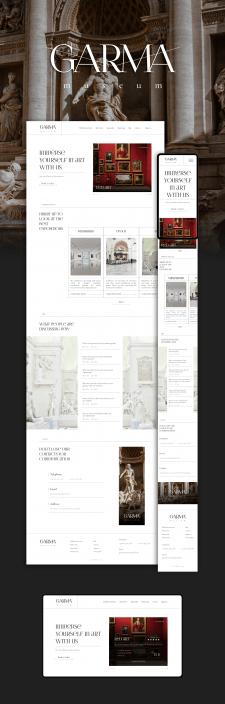 GARMA museum concept, UI/UX design