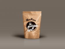 Логотип и этикетка для кофе MaxiKava