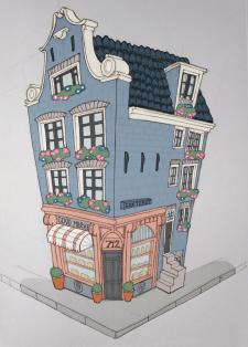 Рисунок Canal Houses