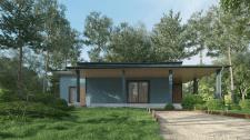 Визуализация деревянного дома (3Ds max 2021+V-ray)