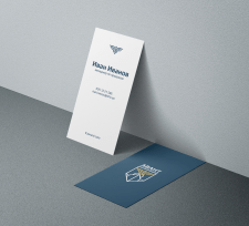 Business card for a seafarer training company