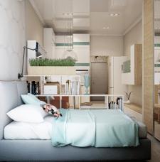 Дизайн квартиры 22 кв.м в современном стиле