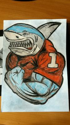 "Рисунок карандашом ""Акула"" (срисовка)"