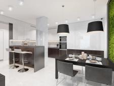 Дизайн кухни-гостиной в г.Львов